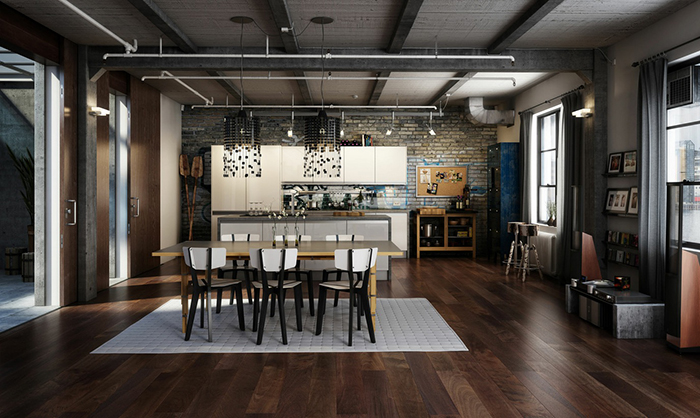 Modern black chandeliers industrial loft INDUSTRIAL DESIGN: INSPIRING LOFTS WITH INDUSTRIAL STYLE DECOR INDUSTRIAL DESIGN: INSPIRING LOFTS WITH INDUSTRIAL STYLE DECOR 2 Modern black chandeliers11