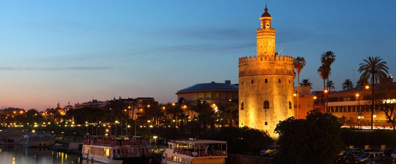 torre del oro seville BEST DESIGN AND ARCHITECTURE: SPANISH ARCHITECTURE, A CONTRAST BEST DESIGN AND ARCHITECTURE: SPANISH ARCHITECTURE, A CONTRAST torre del oro panorama seville