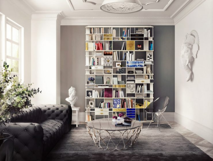 trends 2018 Trends 2018: Tips To Make Your House Look Bigger COLECCIONISTA Bookcase Boca do Lobo 101967 rel31701dd2 740x560