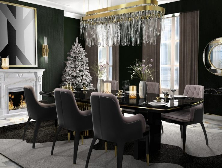 dining room Prepare Your Lavish Dining Room For The Christmas Season! Prepare Your Lavish Dining Room For The Christmas Season4 740x560