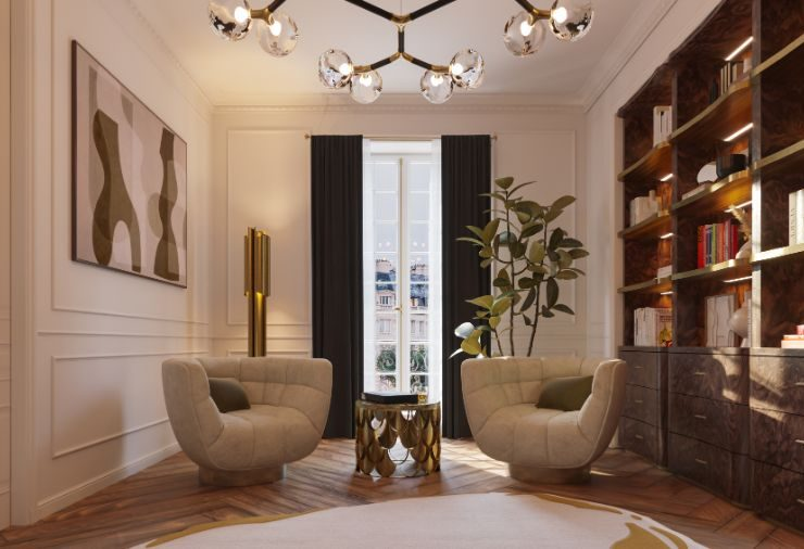 classic and contemporary Classic And Contemporary Design At This Eternel Parisian Apartment! Classic And Contemporary Design At This Eternel Parisian Apartment7 740x506