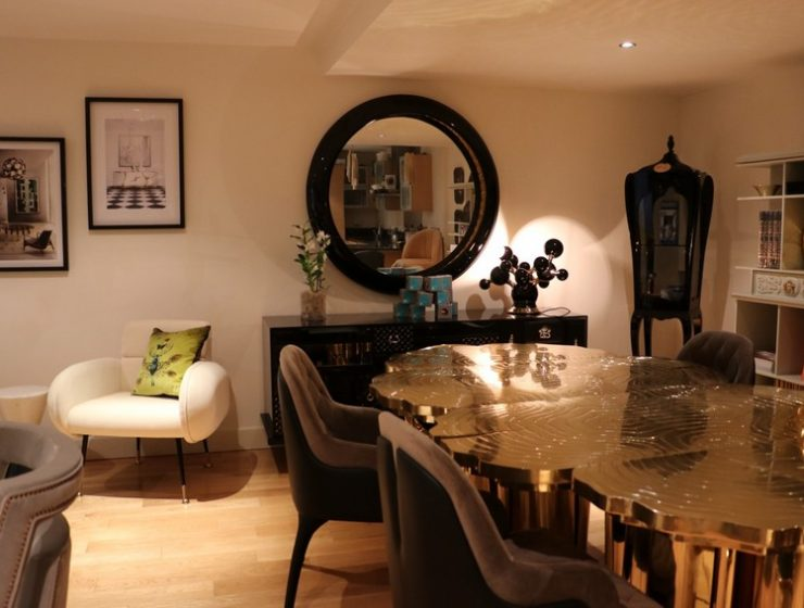 dining room Step Inside The Most Lavish Dining Room At This Amazing London Showroom! Step Inside The Most Lavish Dining Room At This Amazing London Showroom 740x560
