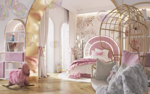 luxury girls room project Be Amazed By This Luxury Girls Room Project By We Wnętrzu Be Amazed By This Luxury Girls Room Project By We Wne  trzu1 480x300