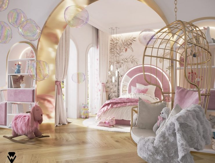 luxury girls room project Be Amazed By This Luxury Girls Room Project By We Wnętrzu Be Amazed By This Luxury Girls Room Project By We Wne  trzu1 740x560