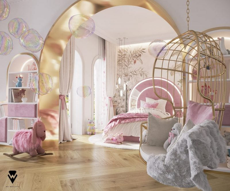luxury girls room project Be Amazed By This Luxury Girls Room Project By We Wnętrzu Be Amazed By This Luxury Girls Room Project By We Wne  trzu1 e1623763289961