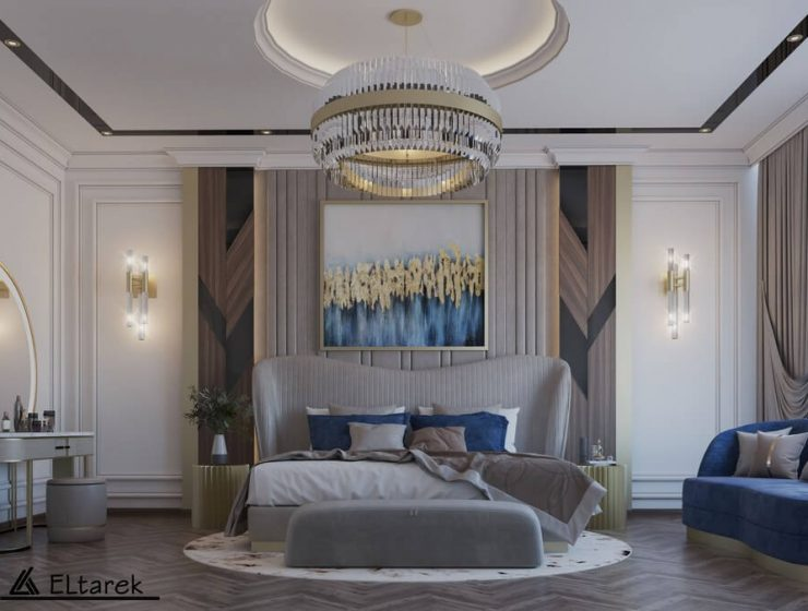 A Modern Classic Master Bedroom with a Contemporary Touch