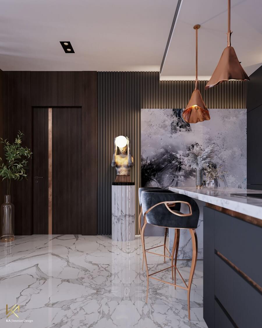 MODERN CLASSIC VILLA  Covet House x K.A Interior Design: A Opulent Modern Classic Villa In Riyadh MODERN CLASSIC VILLA 10