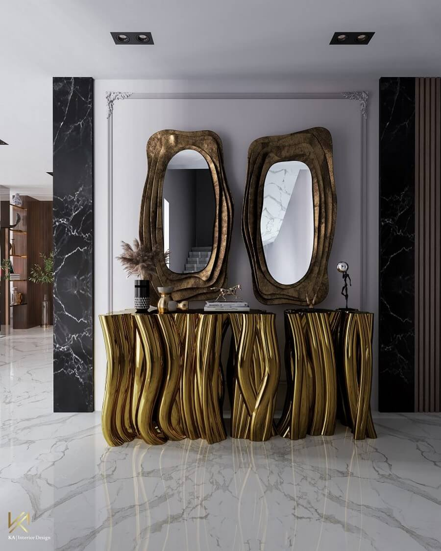 MODERN CLASSIC VILLA  Covet House x K.A Interior Design: A Opulent Modern Classic Villa In Riyadh MODERN CLASSIC VILLA 13