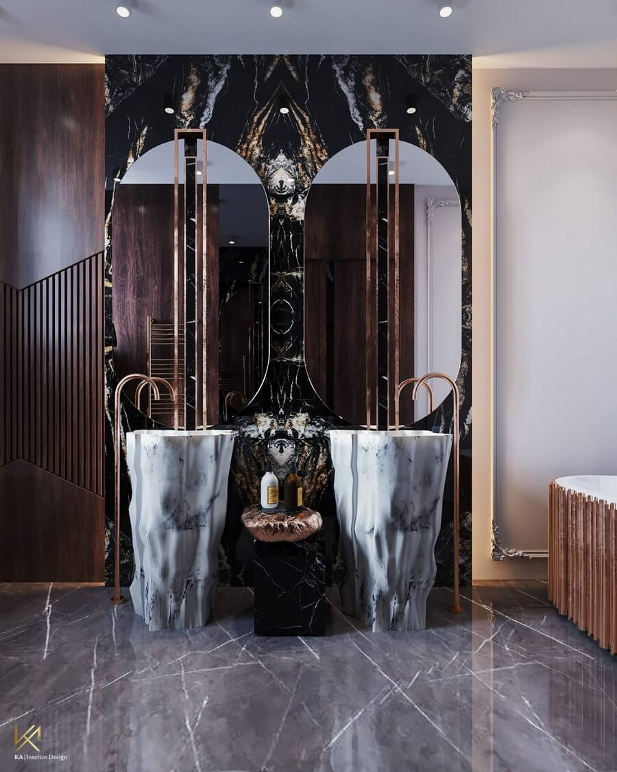 MODERN CLASSIC VILLA  Covet House x K.A Interior Design: A Opulent Modern Classic Villa In Riyadh MODERN CLASSIC VILLA 15
