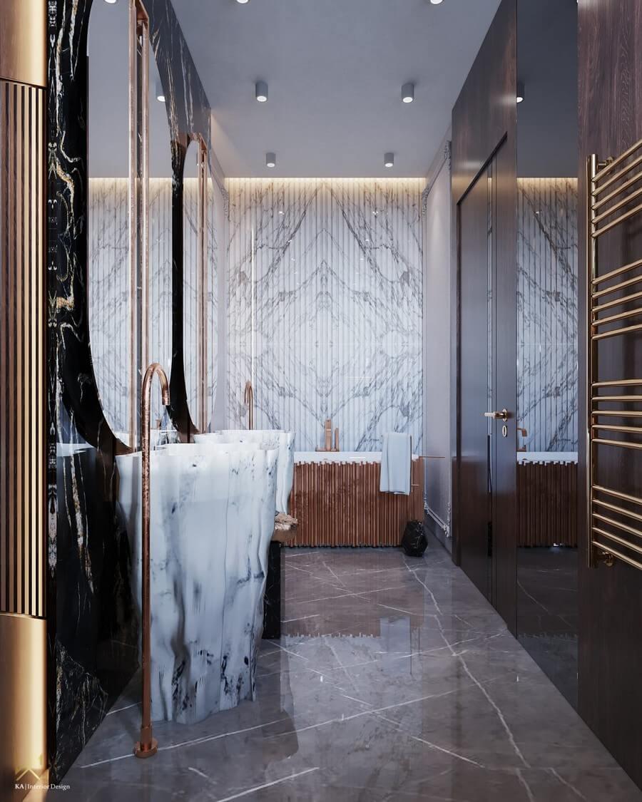 MODERN CLASSIC VILLA  Covet House x K.A Interior Design: A Opulent Modern Classic Villa In Riyadh MODERN CLASSIC VILLA 16