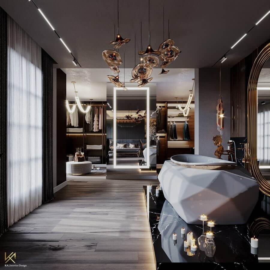 MODERN CLASSIC VILLA  Covet House x K.A Interior Design: A Opulent Modern Classic Villa In Riyadh MODERN CLASSIC VILLA 23