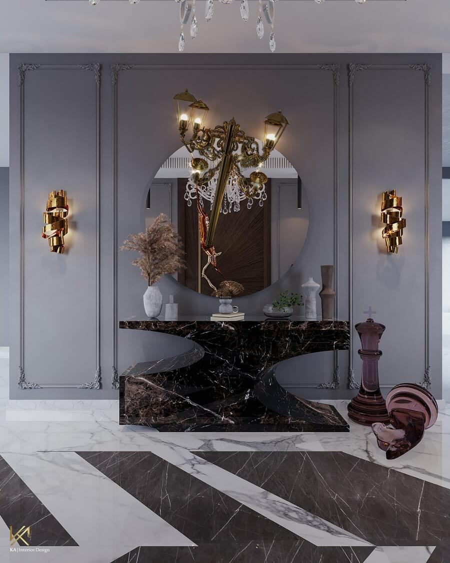 MODERN CLASSIC VILLA  Covet House x K.A Interior Design: A Opulent Modern Classic Villa In Riyadh MODERN CLASSIC VILLA 3