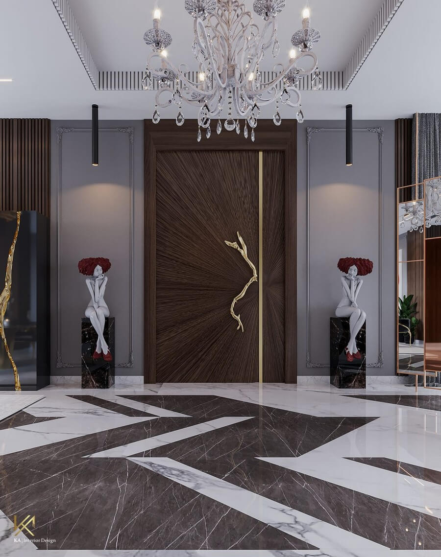 MODERN CLASSIC VILLA  Covet House x K.A Interior Design: A Opulent Modern Classic Villa In Riyadh MODERN CLASSIC VILLA 4