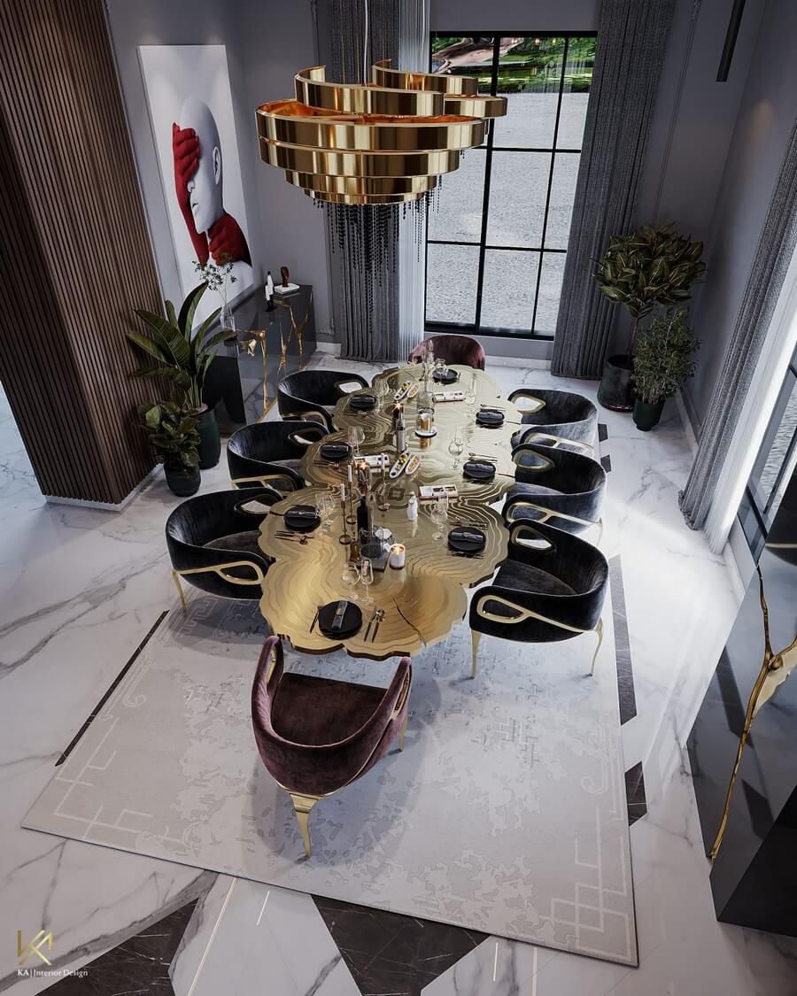 MODERN CLASSIC VILLA  Covet House x K.A Interior Design: A Opulent Modern Classic Villa In Riyadh MODERN CLASSIC VILLA 6