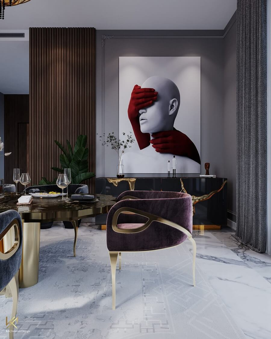 MODERN CLASSIC VILLA  Covet House x K.A Interior Design: A Opulent Modern Classic Villa In Riyadh MODERN CLASSIC VILLA 7