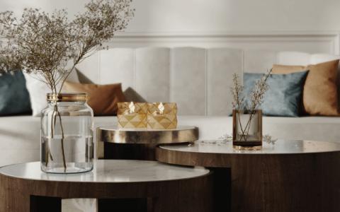 Chic Elegant Living Room by Daryna Osadcha