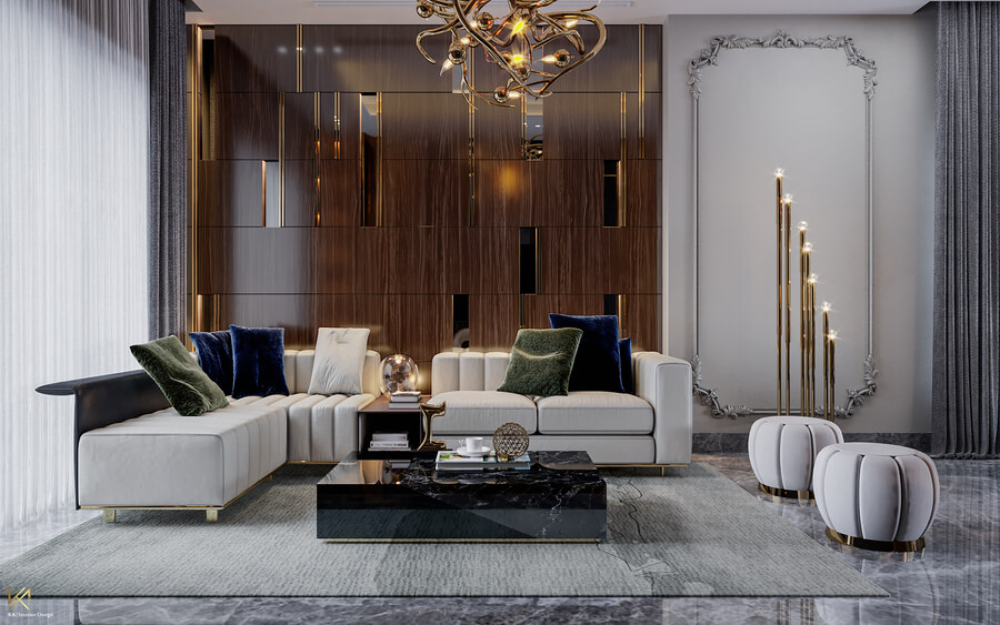 Luxurious House in Dubai | An Open Space Dining and Living Area